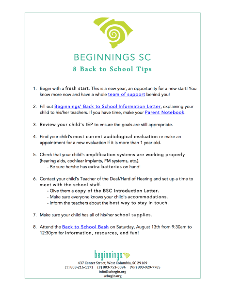 List of Back to School Tips