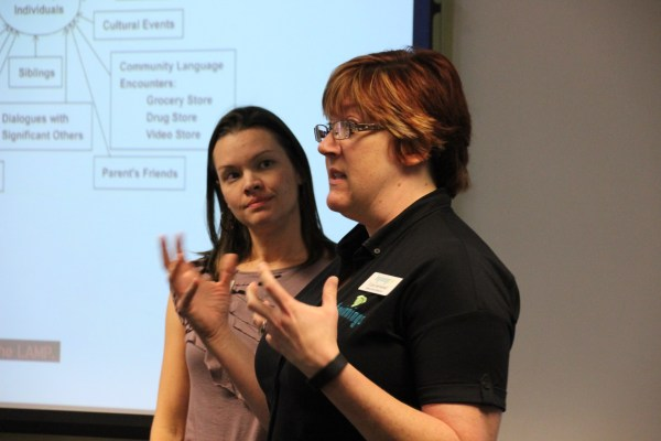 Cara and Mary presenting