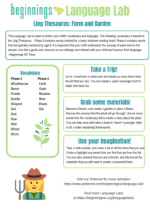 Click for a PDF of Farm and Garden Language Lab