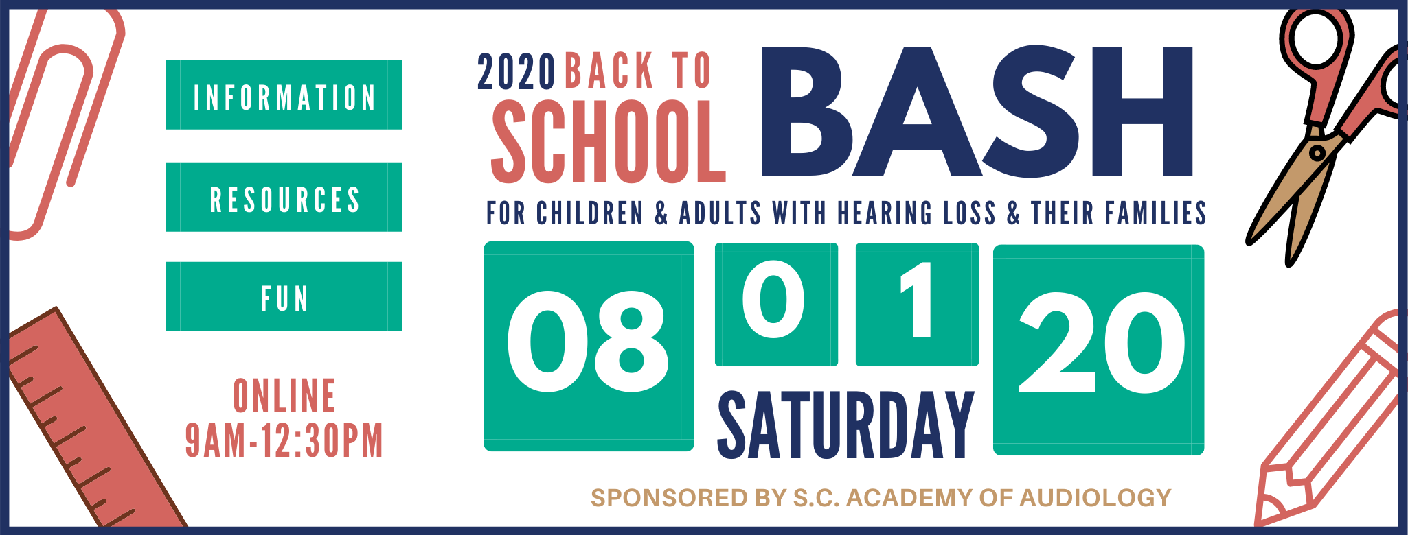 2020 Back to School Bash | Aug. 1, 2020 | Online | Free