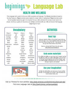 Click the link to download the Language Lab: Health and Wellness Phases 3&4