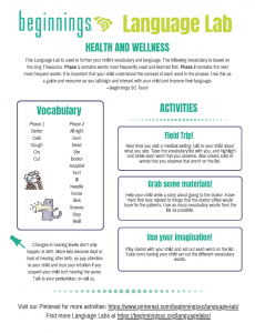 Click the picture to download the Language Lab: Health and Wellness PDF